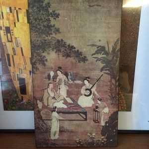 Vintage Wooden Chinese Wall Hanging